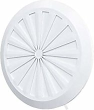 Round Air Vent Grille 180mm with Shutter and
