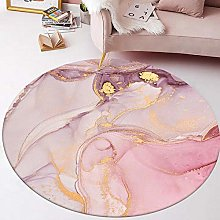 Round Area Rug Beautiful Abstract Watercolor Pink