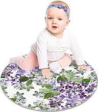 Round Area Rug Beautiful Lilac Soft Area Carpet