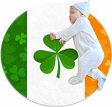 Round Area Rug Carpet Irish Flag Floor Mat