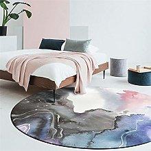 Round Area Rug Dream Watercolor Pink Purple Blue