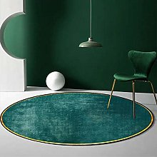 Round Area Rug Nordic Minimalist Emerald Green