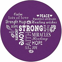 Round Area Rugs 4 ft Strong Love Positive