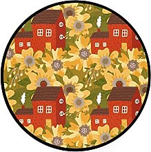 Round Area Rugs Cute Small Old House Among Huge 3
