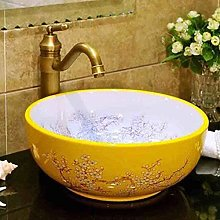 Round Art Wash Basin/Wash Basin/Cabinet