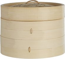 Round Bamboo 2 Tiers Steamer Symple Stuff