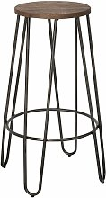 Round Bar Stool made from Reclaimed Metal and