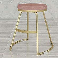 Round Bar Stools, Modern Barstools with Velvet
