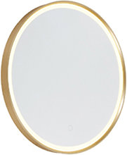 Round bathroom mirror gold incl. LED with touch
