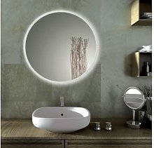 Round bathroom mirror with LED SOLE