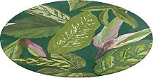 Round Bathroom Rug,Tropical Seamless Pattern with