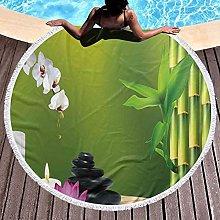 Round Beach Towel Microfiber Beach BlanketBamboo