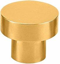 Round Brass Door Knob Kitchen Pulls Cabinet