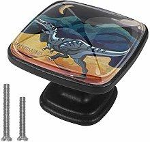Round Cabinet Hardware Knob (4 Pack) - Dinosaurs