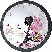 Round Cabinet Hardware Knob (4 Pack) - Pink
