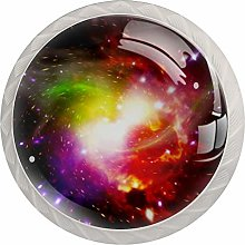 Round Cabinet Knob Colorful Light Shadow Handmade