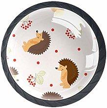 Round Cabinet Knob Hedgehog Animal Handmade Unique