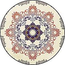 Round Carpet Area Rugs Retro Round Rug Non Slip