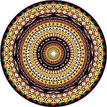 Round Carpet Area Rugs Round Rug Retro Design with