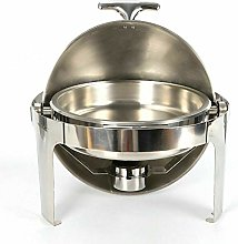 Round Chafing Dish - 6.8L Stainless Steel Food