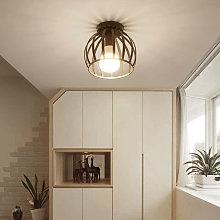 Round Chandelier Retro Industrial Ceiling Lamp