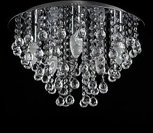 Round Chrome Acrylic Jewel Chandelier Crystal Cut
