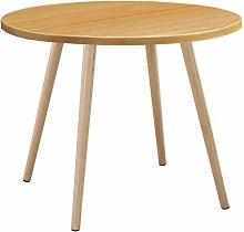 Round Coffee Table, Modern Leisure Wooden Tea