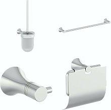 round contemporary 4 piece main bathroom accessory