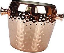 Round Copper Stainless Steel Ice Bucket Bar Pub