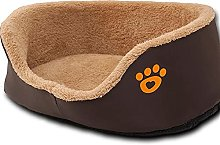 Round Dog Sofa Bed Soft Fleece Warm Cat Beds