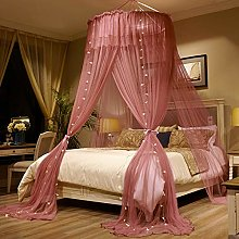 Round Dome Lace Bed Canopy,Hanging Three-door