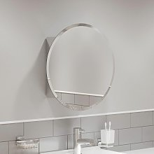 Round Door Bathroom Mirror Cabinet Cupboard