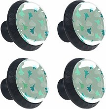 Round Drawer Handles Fighter Planes Green Cloud