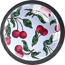 Round Drawer Knobs Cherry Cabinet Knobs Black