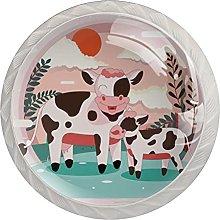Round Drawer Knobs Cow Cabinet Knobs White Dresser