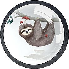 Round Drawer Knobs Sloth Cabinet Knobs Black