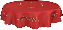 Round Fabric Christmas Tablecloth Material Xmas