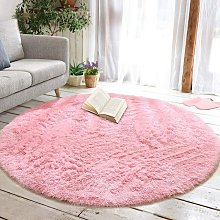 Round Fluffy Soft Area Rugs for Kids Girls Room