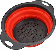 Round Folding Collapsible Colander/Strainer/Filter
