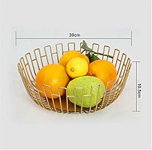 Round Fruit Bowl/Wire Fruit Basket/Metal Fruit