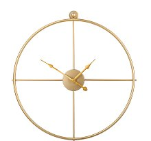 Round Gold Wall Clock Open Face Without Numbers