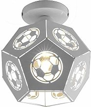 Round Hollow Ceiling Light Metal Polygon