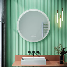 Round Illuminated LED Bathroom Mirror Touch Sensor