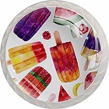 Round Kitchen Cabinet Knobs - 4 pcs Drawer Handles