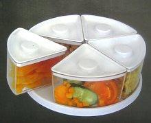 Round Kitchen Revolving Multi Compartment