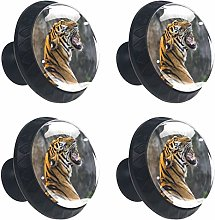 Round Knobs 4pcs for Dresser Drawers Furniture