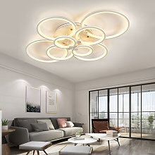Round LED Dimmable Chandelier Ceiling Light With