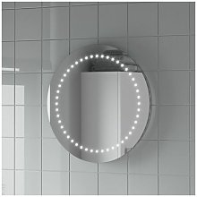Round LED ILLUMINATED Bathroom Mirror Modern Light