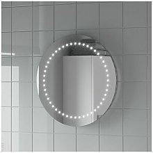 Round LED ILLUMINATED Bathroom Mirror Modern Light