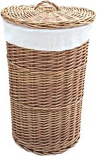 Round Lining Wicker Laundry Bin August Grove